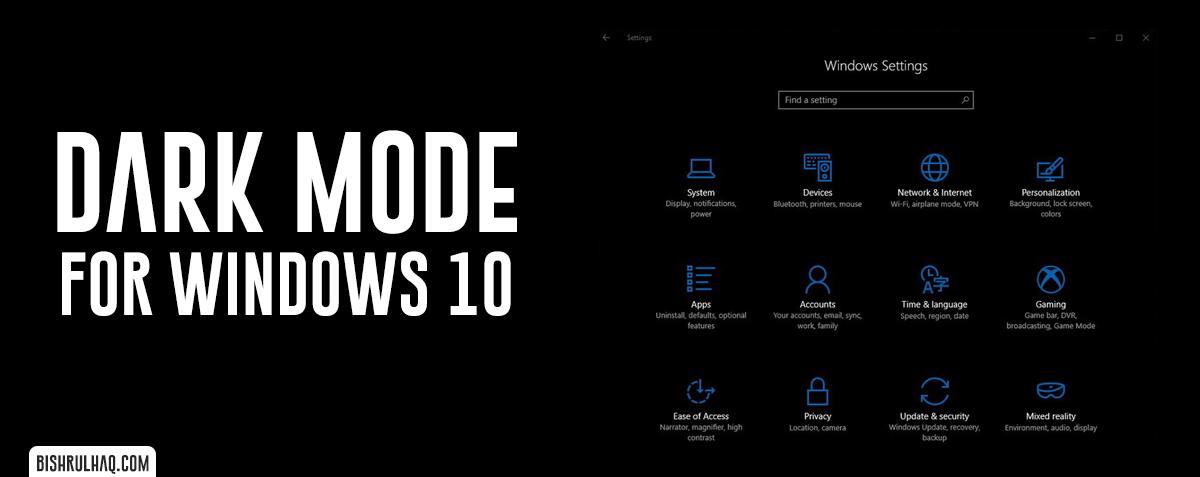 Dark Mode in Windows 10